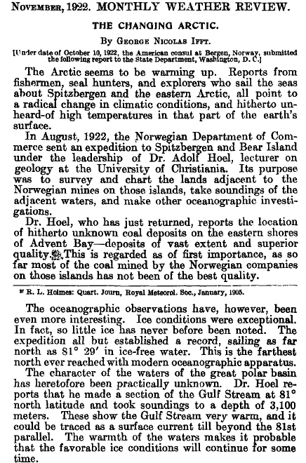 New paper: Arctic temperatures peaked before 1950, declining since ...