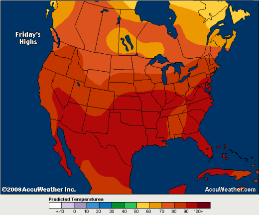 color and temperature perception is everything watts up with that?note the color scale and where the perceived \u201ccooler\u201d colors start on the accuweather map