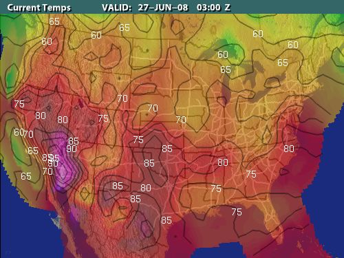 Monthly Average Temperatures Weathercom Isobars And Isotherms
