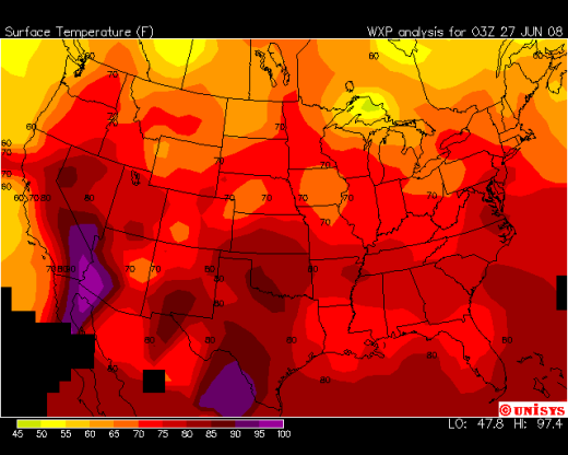 Colors On Weather Map.Color And Temperature Perception Is Everything Watts Up With That