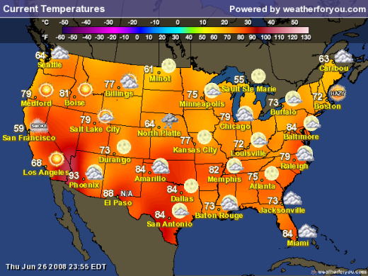 Today National Weather Map.Color And Temperature Perception Is Everything Watts Up With That