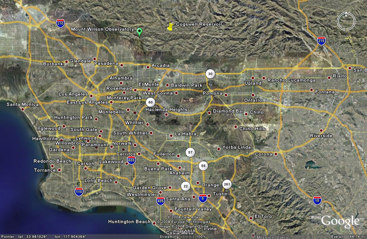 los angeles google maps