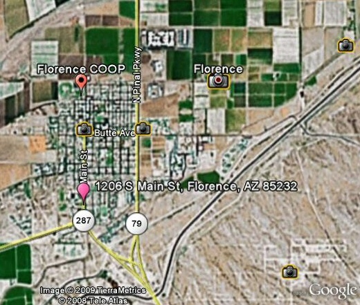 what is the red dot watts up that florence az coop city map