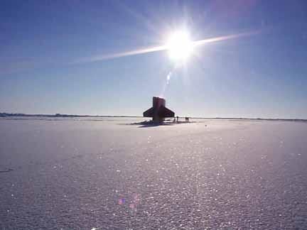 USS Hawkbill at the North Pole, Spring 1999. (US Navy Photo)