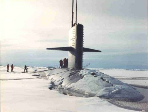 USS Pargo at the North Pole in 1993. (US Navy Photo)
