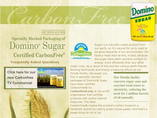 Le sucre sans carbone