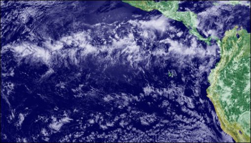 The ITCZ from space. Source: NASA Earth Observatory. Click for larger image
