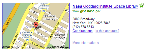 NASA_GISS_Google_map