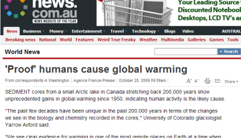 Claim: Last 100 years may be warmest in 120,000 years in the Arctic