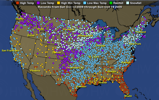 A cold start to fall: over 4500 new snowfall, low temp, and