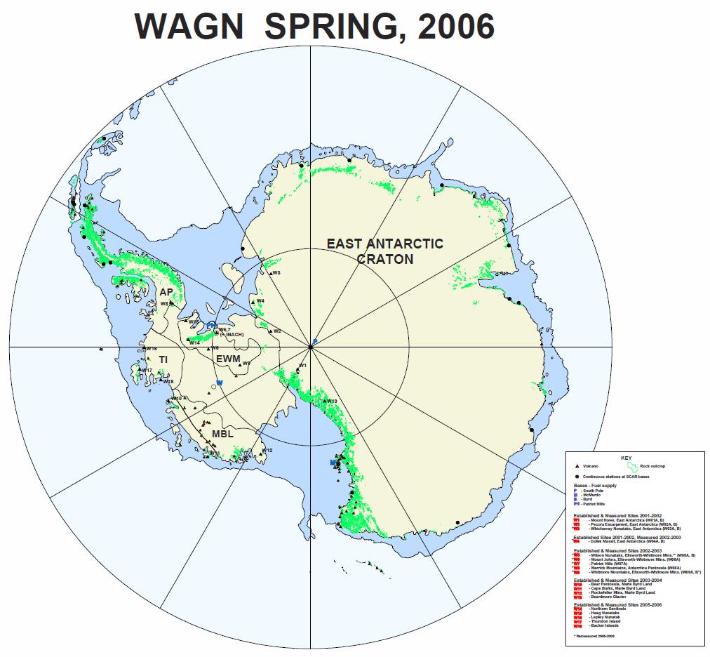WAGN sites in antarctica