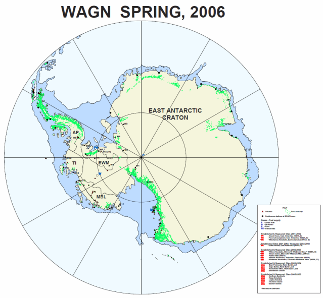 WAGN sites in antarctica