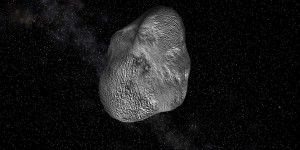 Potentially Hazardous Asteroid - 3D rendering by by Arlene Dacao