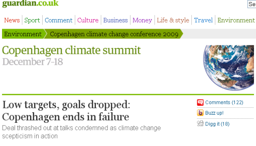 Guardian Headline – Low targets, goals dropped: Copenhagen ends in failure