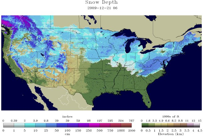 Over Of The USA Is Now Covered In Snow Watts Up With That - Us snowfall map 2009