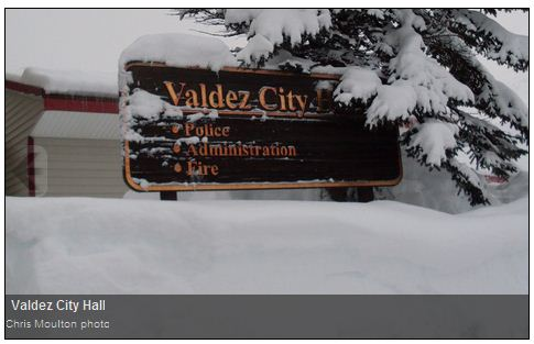 Record snowfalls in Valdez Alaska sinks boat and Washington DC gets a new snowfall record