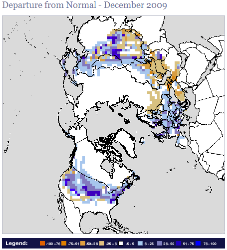 December 2009: Second Snowiest on Record in the Northern Hemisphere