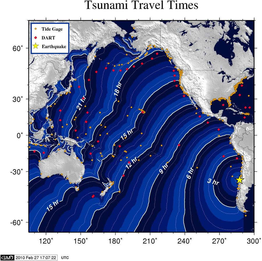 Tsunami Time Travel Graph