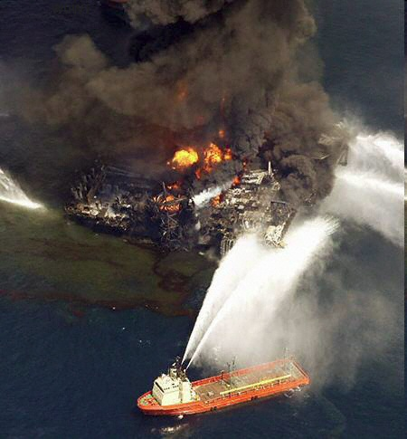 The Gulf Oil Rig Explosion On The Scene Photos Watts