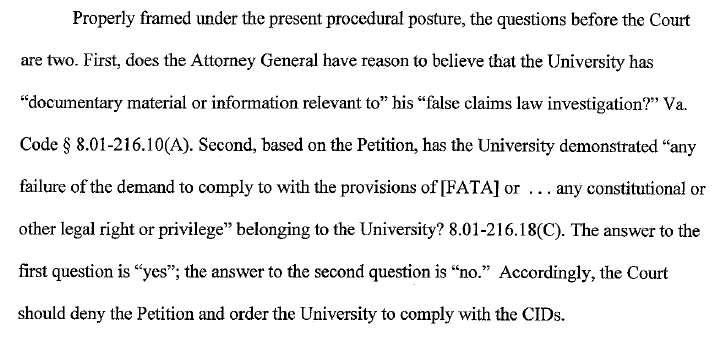 Legal brief filed in Mann UVA emails case   Watts Up With That?