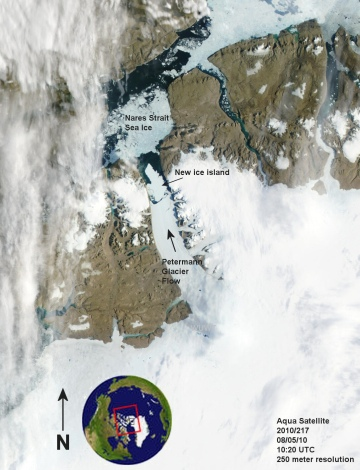 Oh no! Greenland glacier calves island 4 times the size of Manhattan