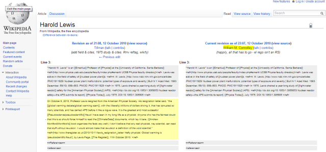 Wikipedia climate revisionism by William Connolley continues