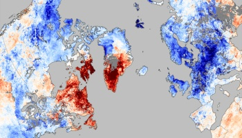 Satellite visualization of December's deadly cold in Europe