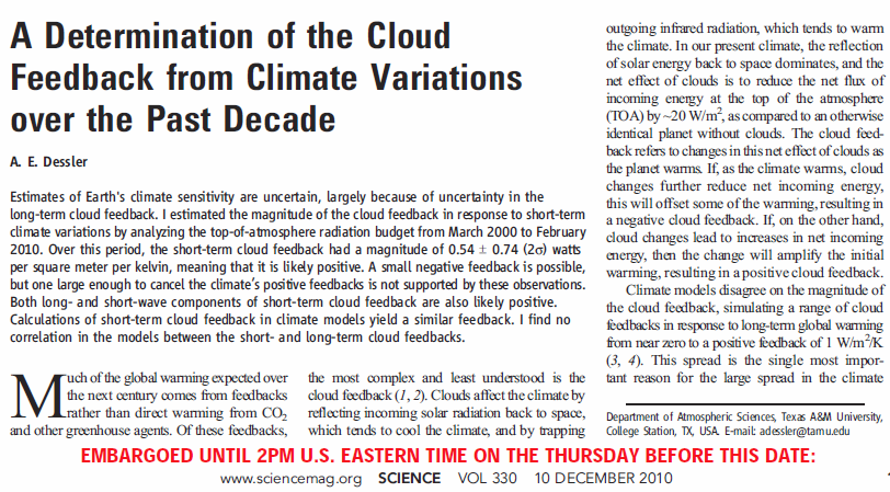 the dessler cloud feedback paper in science a step backward for  screencap