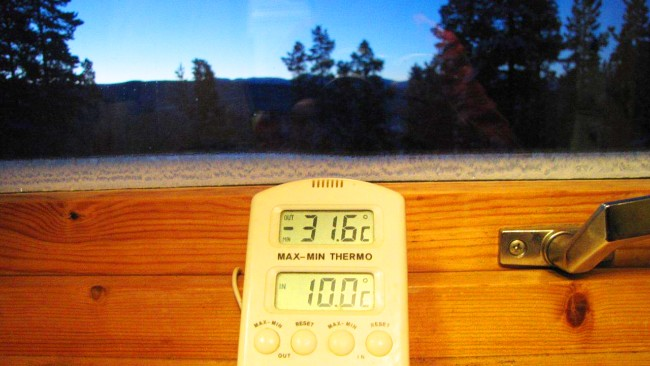 Does a temperature drop of 22F in 150 seconds show how natural climate sensitivity can be?