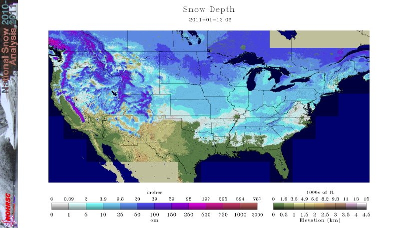 UPDATED Nearly 71 of the USA is covered in snow 49 of 50 states