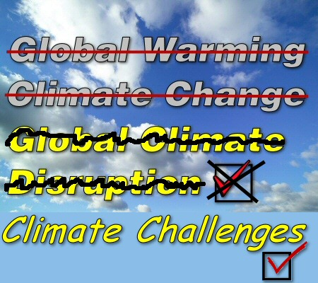 "Spin, span, spun: now it's ""climate challenges"""