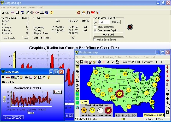 Live Realtime Monitoring Map Of Radiation Counts In The USA - Us radiation levels map