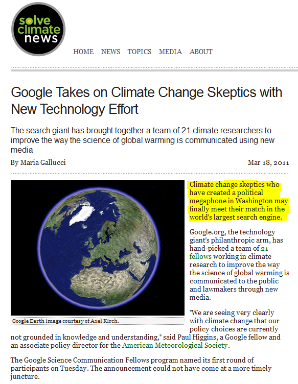 Friday Funny Google Take Climate Skeptics