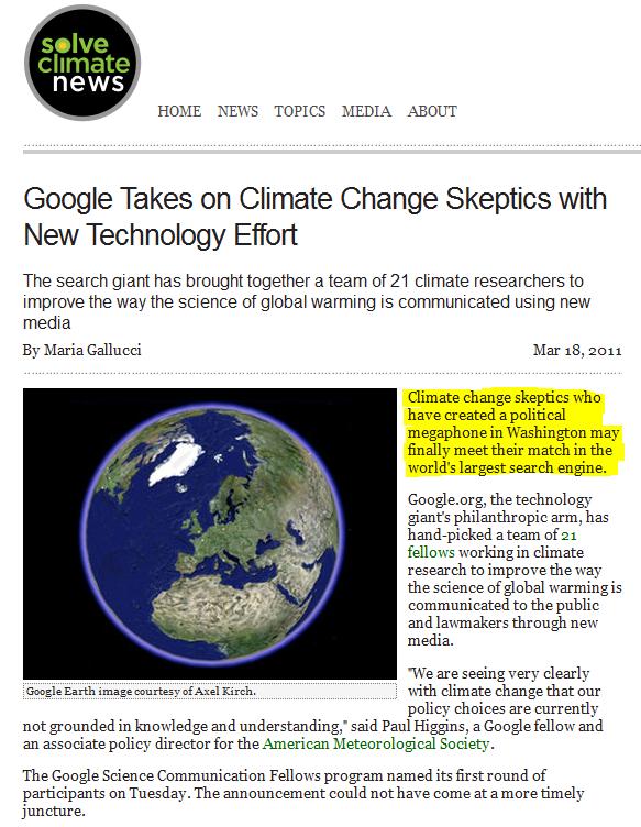 Friday Funny Google Take Climate Skeptics