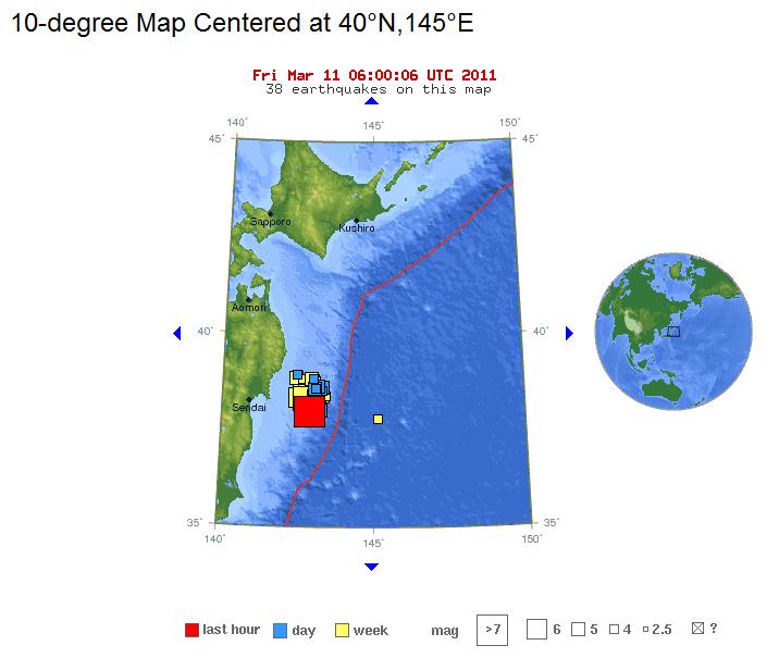 Monster earthquake off of Japanese coast: 8 9, Tsunami strikes