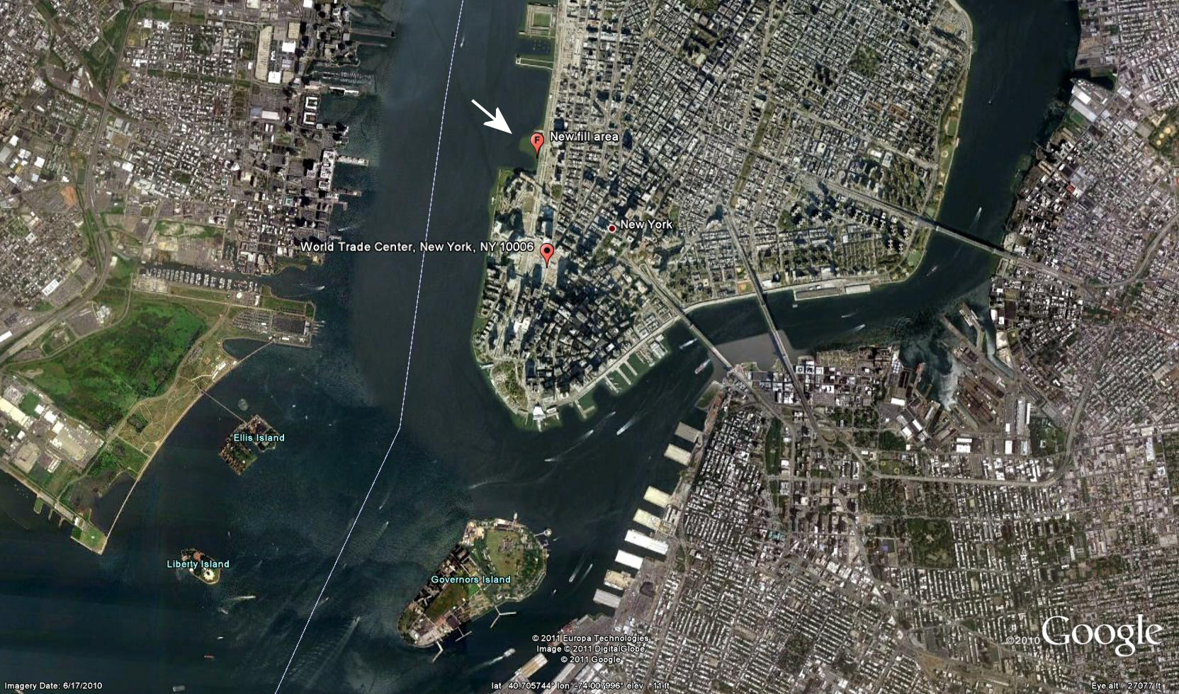 NYC Denying The Sea And Hansens Sea Level Predictions Watts Up - Nyc map google earth