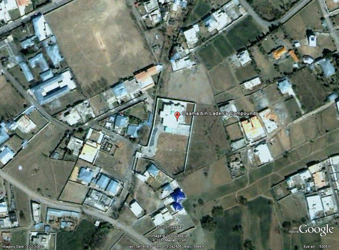 How to find osama bin ladens house on google earth