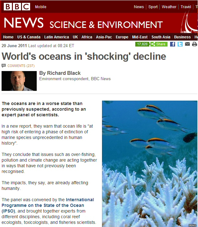 Saving the world and the ocean, one activist opinion at a time – another NGO flap, this one duped global media