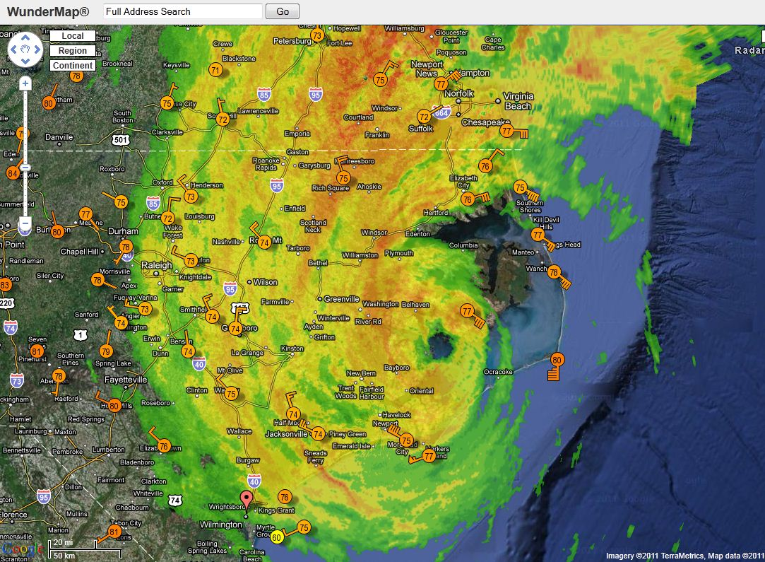 Hurricane Irene Not Packing Much Of A Punch So Far Watts Up With