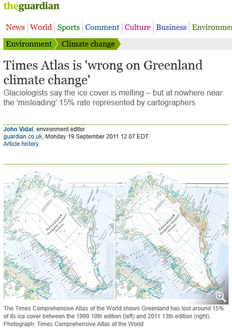 'Atlasgate' deepens: NSIDC rejects being a specific source of The Times Atlas 15% Greenland ice loss claim