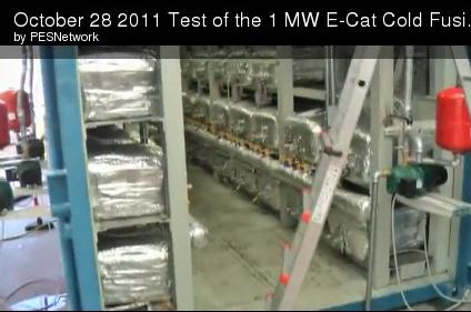Test of Rossi's 1 MW E-Cat fusion system apparently