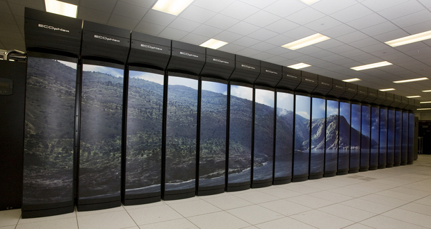 The Cray Ecoplex NOAA GAEA supercomputer used for modeling at Oak Ridge Lab. Gaea was funded by a $73 million American Reinvestment and Recovery Act of 2009 investment through a collaborative partnership between NOAA and the Department of Energy.