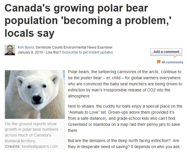 polar bears global warming research papers