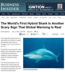 Australian hybrid fish story – Media jumps the shark | Watts Up With