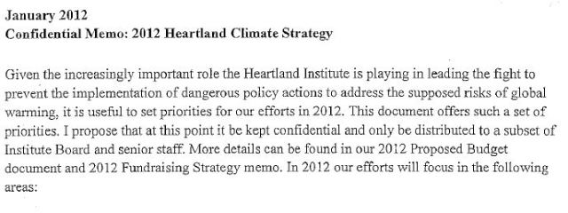 Notes on the faked Heartland document | Watts Up With That?