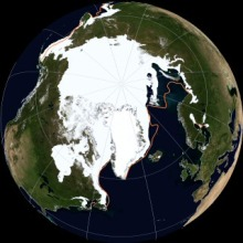 Arctic extent with anomaly boundaries -from NSIDC - click for hi-res version