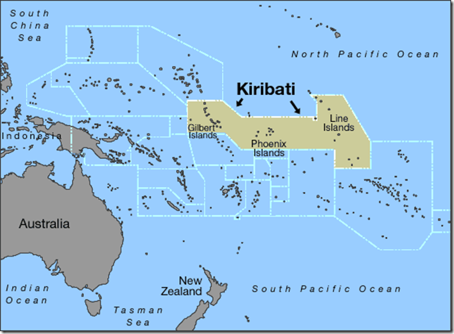 Kiribati On The Move But Not Sinking Watts Up With That - tarawa atoll map