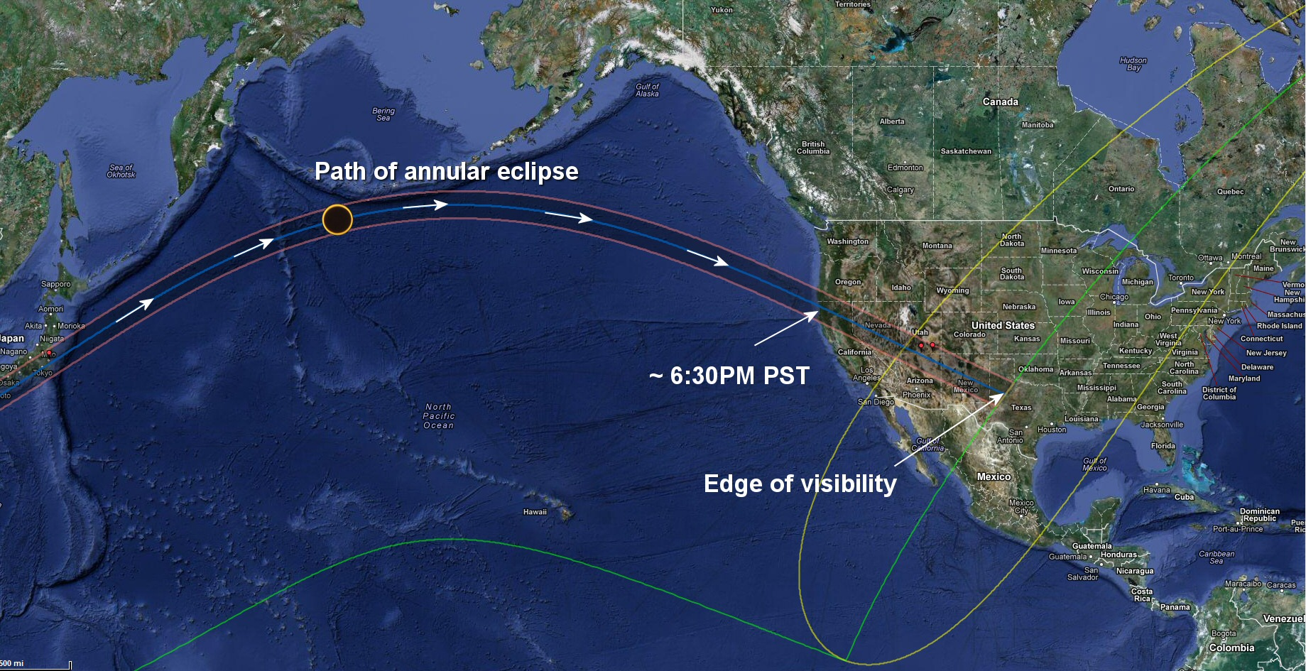 Partial Solar Eclipse Map.Annular Solar Eclipse 2012 Data And Images Watts Up With That