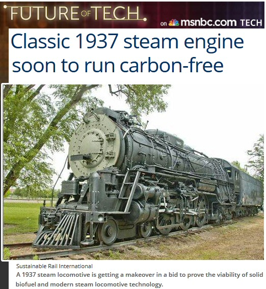 130 mph biocoal steam engines – another high speed rail