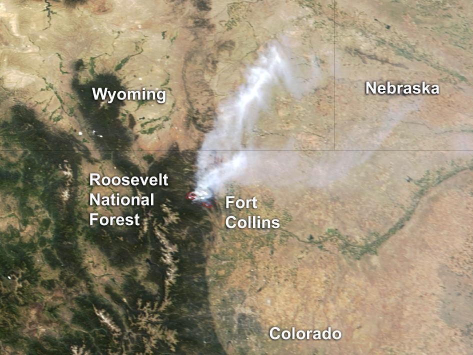 Satellite imagery of Colorado's High Park Fire | Watts Up With That?